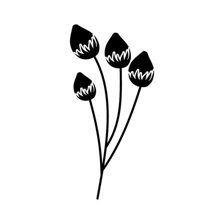 bloem delicate bloei bub floral vector illustratie