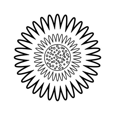 ダリア花花飾りガーデン イメージ ベクトル イラスト  イラスト・ベクター素材