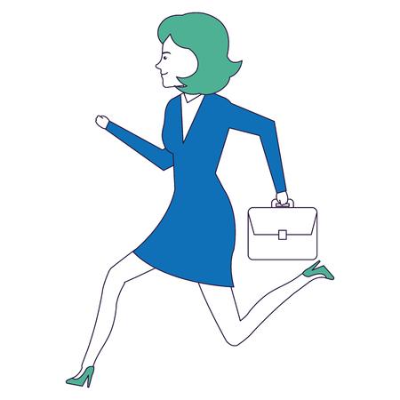 smart girl: businesswoman running avatar character vector illustration design