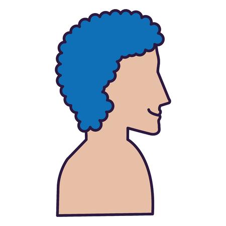 man profile shirtless avatar character vector illustration design Stock Vector - 90043662