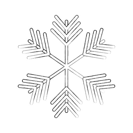 christmas snowflake winter decoration ornament vector illustration