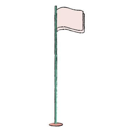 pointer flag isolated icon vector illustration design Illustration