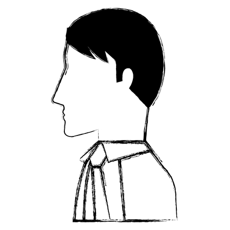 businessman profile avatar character vector illustration design Ilustrace