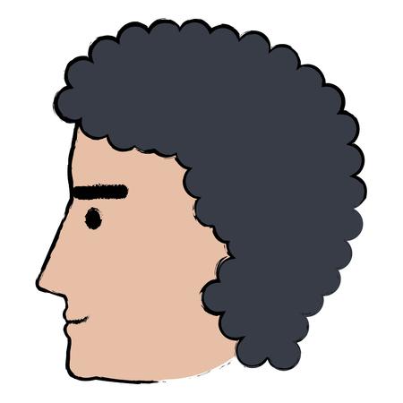 head profile man avatar character vector illustration design Иллюстрация