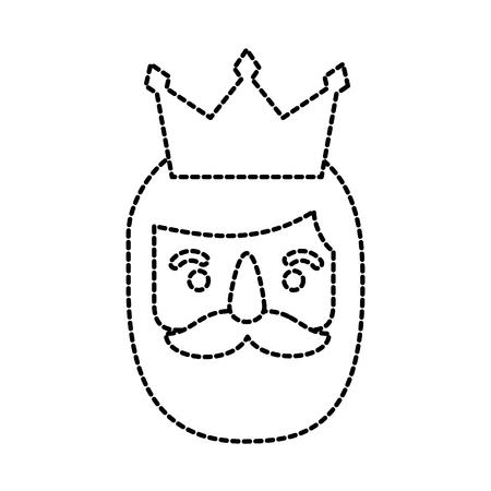 the wise king face christmas cartoon vector illustration Illustration