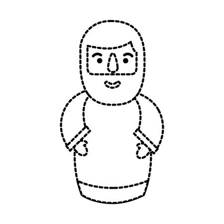 manger wise king christmas character spiritual vector illustration