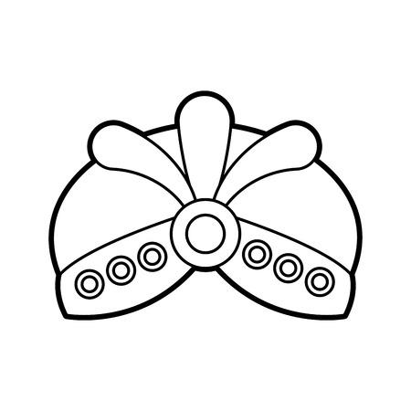 ジュエリー漫画帽子王のアイコン ベクトル図