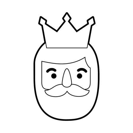 brief aan de drie koningen van orient feest festiviteit vectorillustratie Vector Illustratie