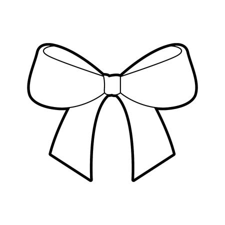 Kerst boog lint decoratie ornament vector illustratie