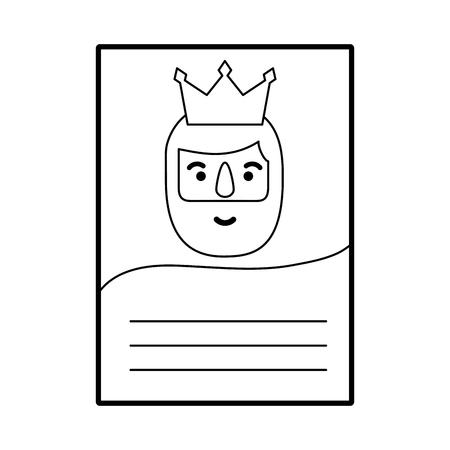 de drie koningen van orient brief epiphany viering vector illustratie
