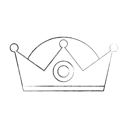 왕관 현명한 왕 화려한 보석 이미지 벡터 일러스트 레이션