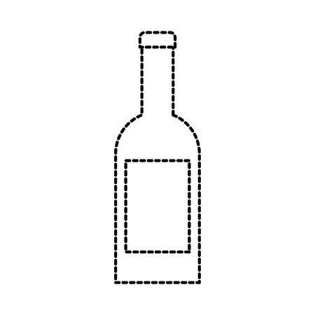 wine bottle drink beverage celebration vector illustration Illustration