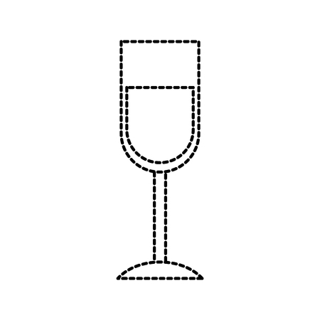 wine glass drink thanksgiving party celebration vector illustration Çizim