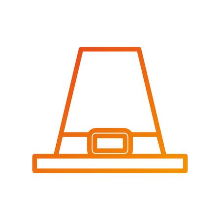 Chapeau pèlerin accessoire classique thanksgiving symbole illustration vectorielle Banque d'images - 90056919