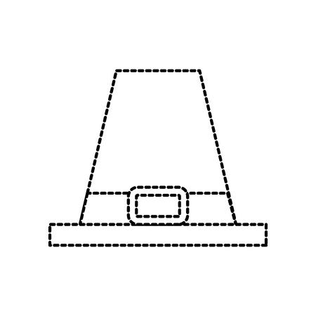Pelgrim hoed klassieke accessoire thanksgiving symbool vector illustratie Stockfoto - 90056923