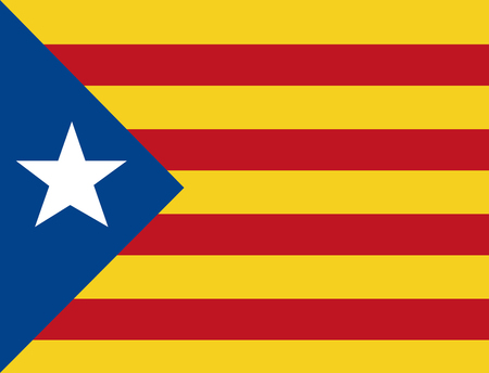 Catalonië de nationale vlag Europa Spanje vector illustratie Stockfoto - 90056948