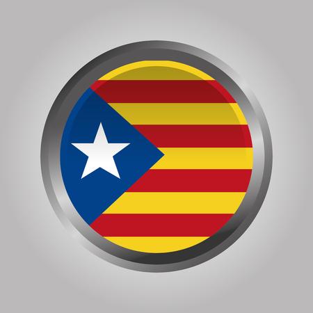 Cataluña, la bandera nacional, Europa, España, vector, ilustración Foto de archivo - 90056949