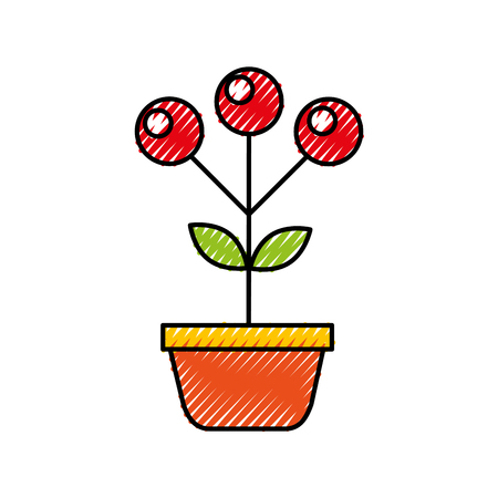 Plante plante automne baies plante nature illustration vectorielle Banque d'images - 90056996