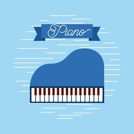Piano jazz instrument musical festival celebration vector illustration 向量圖像