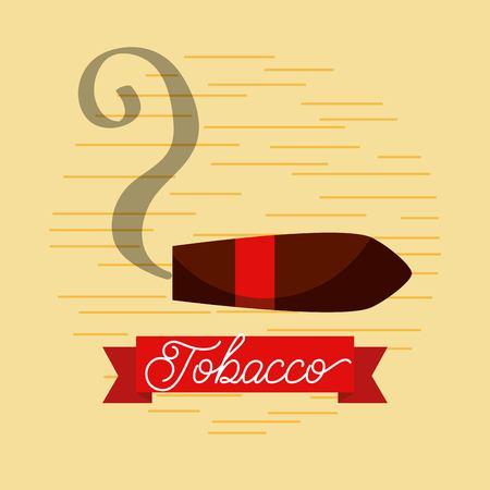 담배 흡연 재즈 클럽 포스터 벡터 일러스트 레이션