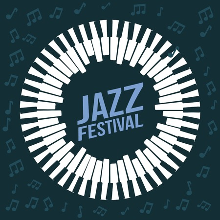 jazz festival poster music event invitation vector Illustration Ilustração
