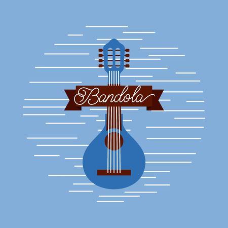マンドリンジャズ楽器楽器フェスティバル お祝いベクトルイラスト  イラスト・ベクター素材