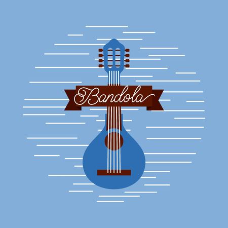 mandolin jazz instrument musical festival celebration vector illustration Ilustrace