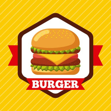 burger icon fast food restaurant menu vector illustration