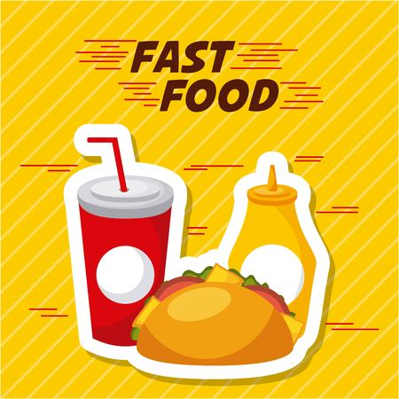 fast food restaurant menu brochure vector illustration