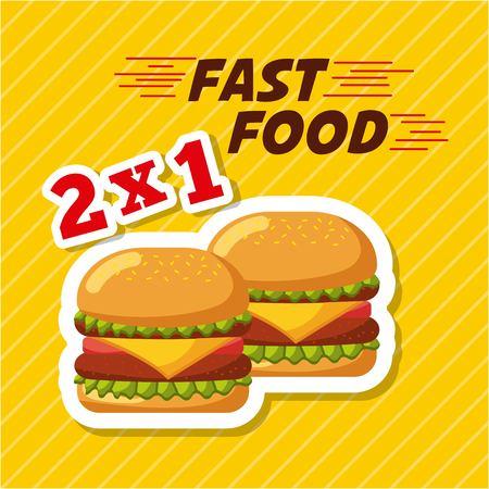 fast food restaurant menu brochure vector illustratie Stockfoto