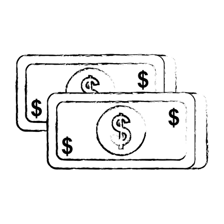Bankbiljet pictogram vectorillustratie Stock Illustratie