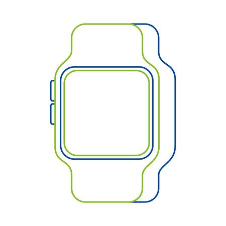 スマートな腕時計のベクトル図