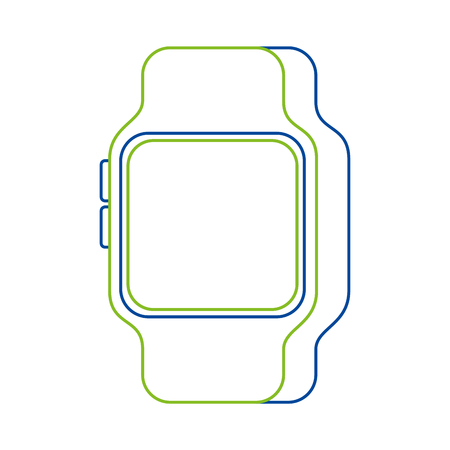 Intelligente Uhrvektorillustration Standard-Bild - 90079151
