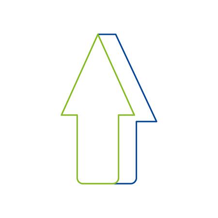 Freccia che mostra all'illustrazione superiore di vettore dell'icona Archivio Fotografico - 90079157