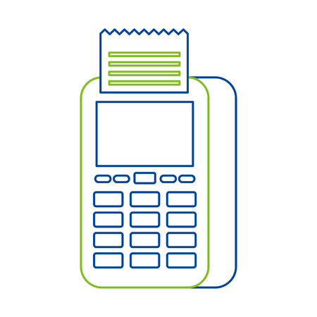 Data phone transaction payment icon vector illustration