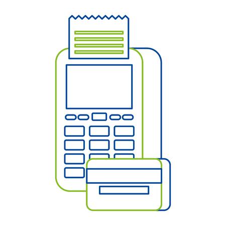 payment online dataphone credit card bank digital vector illustration Ilustração