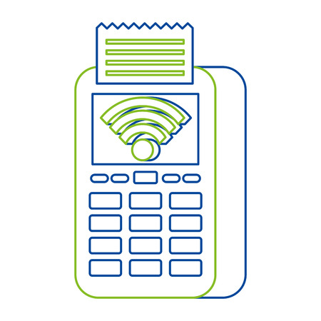 mobile payments wifi and near field communication concept vector illustration Çizim