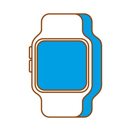Smart Watch Gerät Technologie Wireless Vektor-Illustration Standard-Bild - 90072172