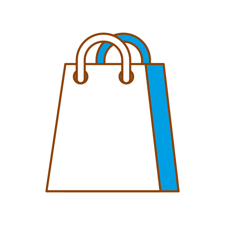 shopping bag ecommerce marketing online app vector illustration Illustration