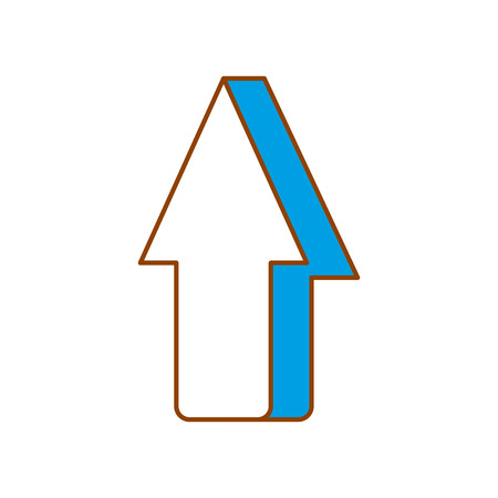 arrow showing to the top icon vector illustration