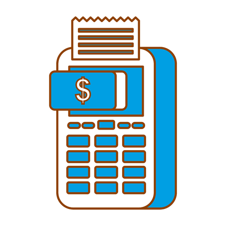 payment online dataphone money button digital vector illustration