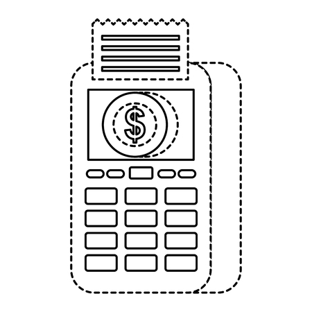 payment online dataphone coin money digital vector illustration