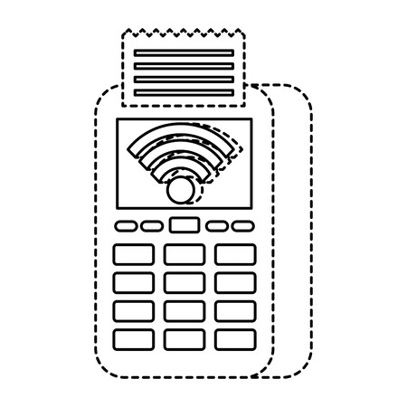 dataphone transaction payment shop online icon vector illustration Ilustração