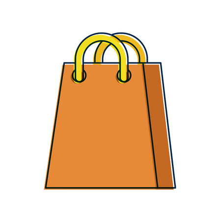shopping bag ecommerce marketing online app vector illustration Çizim