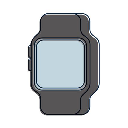 Smart Watch Gerät Technologie Wireless Vektor-Illustration Standard-Bild - 90080732