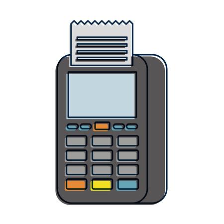 dataphone transaction payment shop online icon vector illustration Illustration