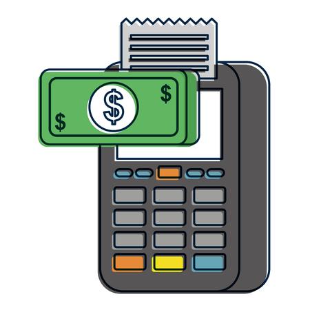 지불 온라인 디지털 전화 돈 상거래 디지털 벡터 일러스트 레이션 스톡 콘텐츠 - 90095405