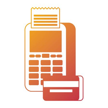 payment online dataphone credit card bank digital vector illustration Illustration