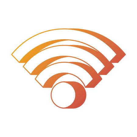 wifi internet connection digital sign vector illustration Ilustração
