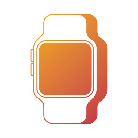 Intelligente Uhr Gerätetechnik drahtlose Vektor-Illustration Standard-Bild - 90096992